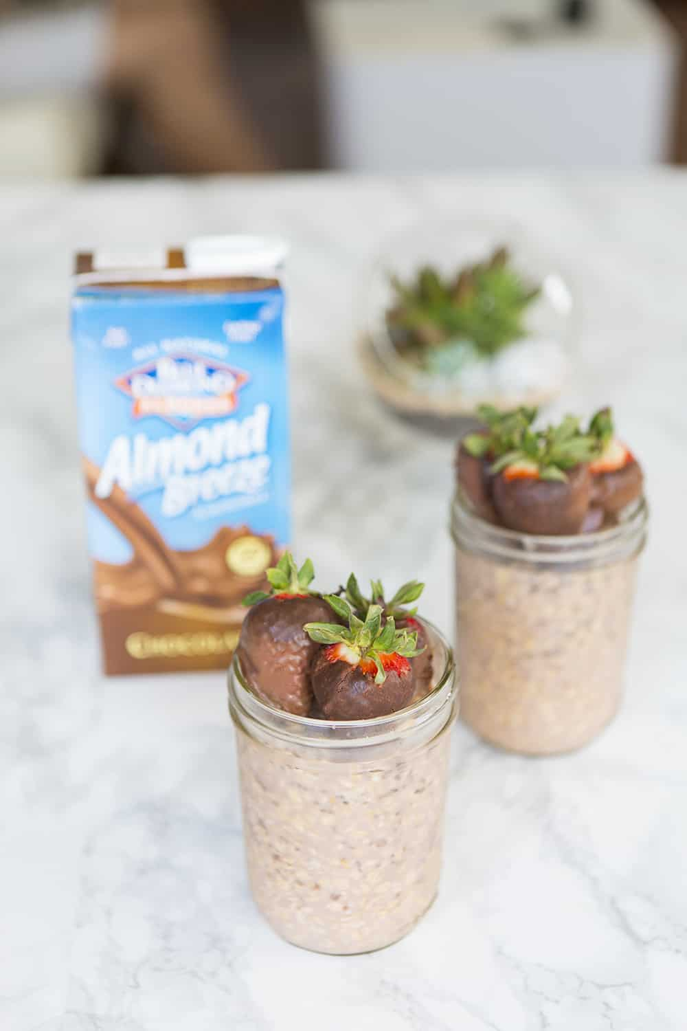 Chocolate Covered Strawberries Overnight Oatmeal