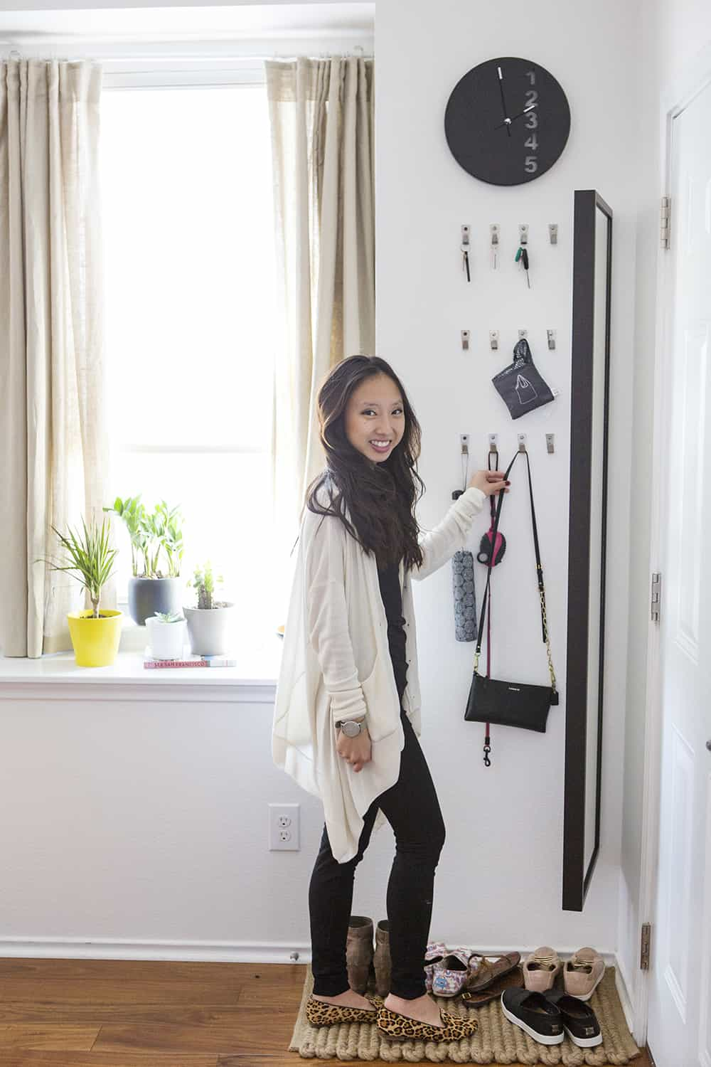 Before & After: Small Space Entryway Storage Makeover
