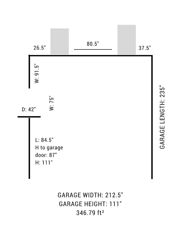 Garage layout