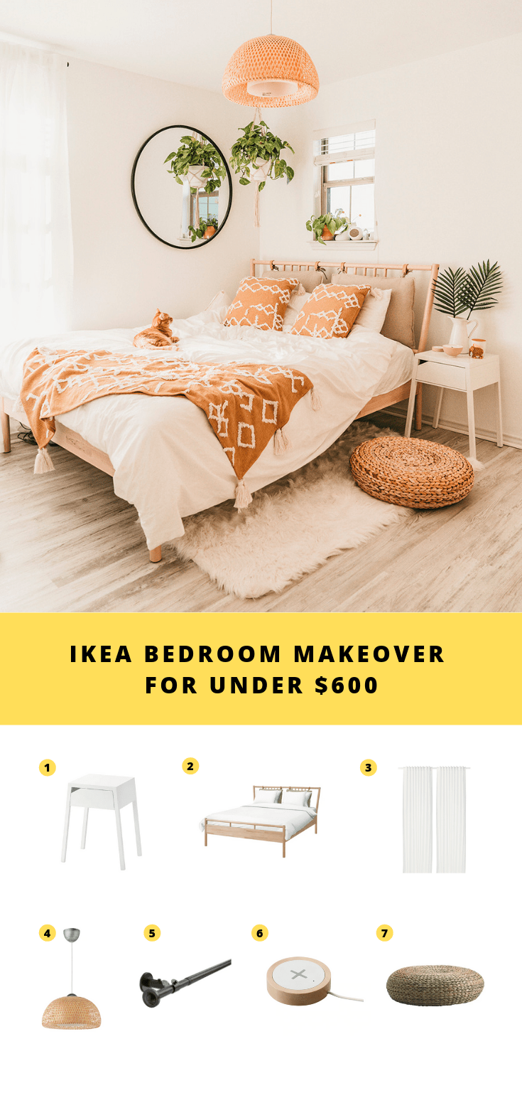 IKEA Bedroom Makeover For Under $600