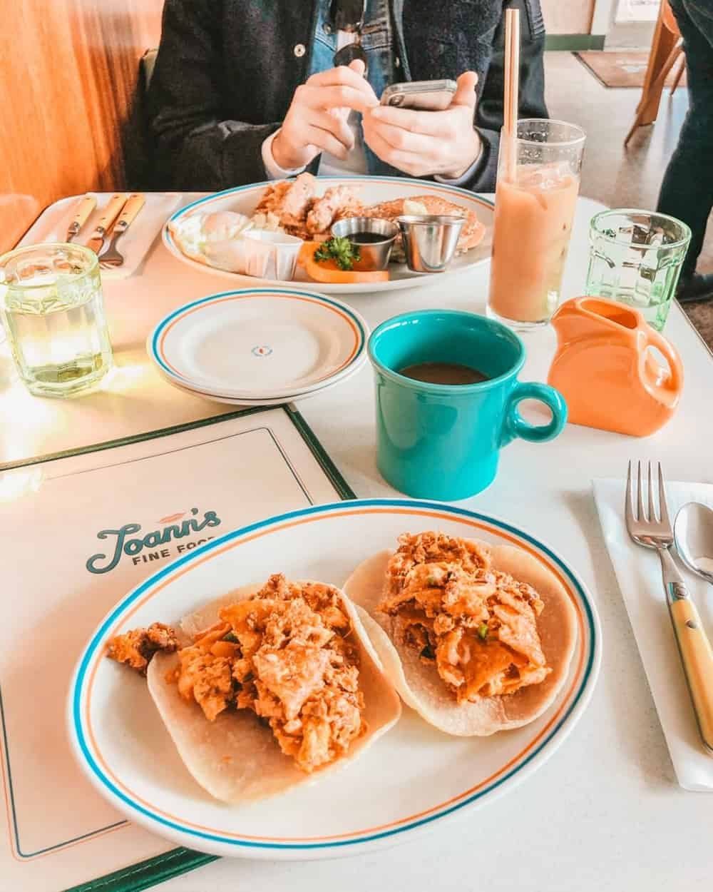 Joann's Fine Foods breakfast tacos in Austin