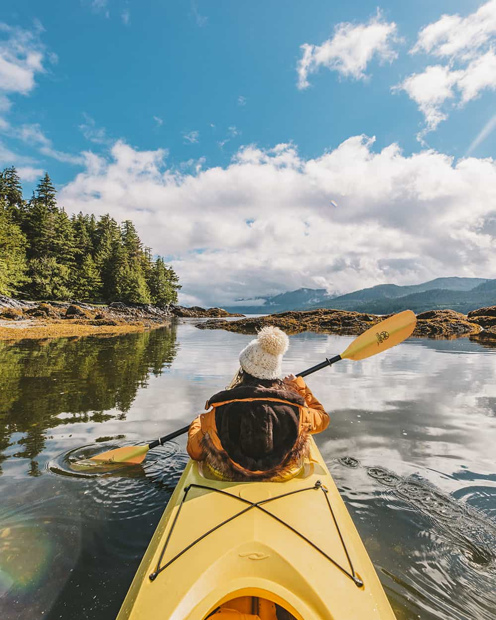 Sea kayaking in the Tongass National Forest in Alaska